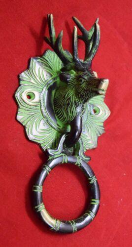 Reindeer Shape Door Knocker Wild Animal Brass Door Knocker Victorian Style Decor