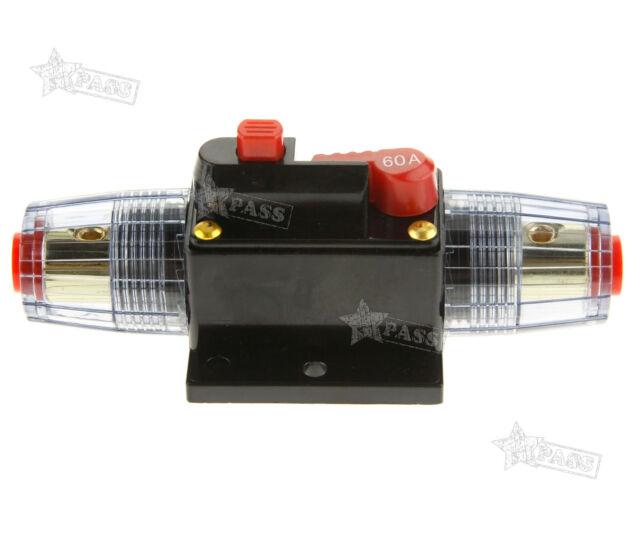 12-24v DC Car Audio Cirrcuit AGU Style Breaker Fuse 60AMP Q121B