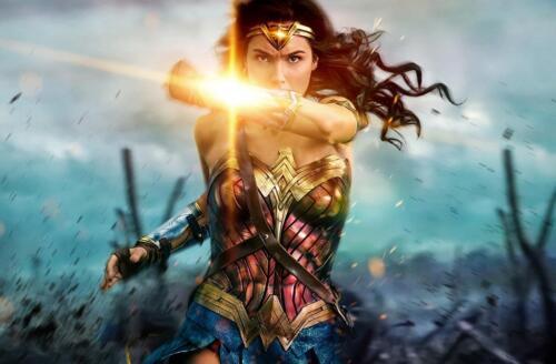 Wonder Woman 2017 Canvas Wall Art Film Movie Poster Print Sc-Fi Comic Gal Gadot