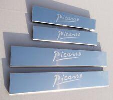 CITROEN C4 Picasso Mk2 (2013) las placas de acero inoxidable umbral Liberado/protectores De Repisa