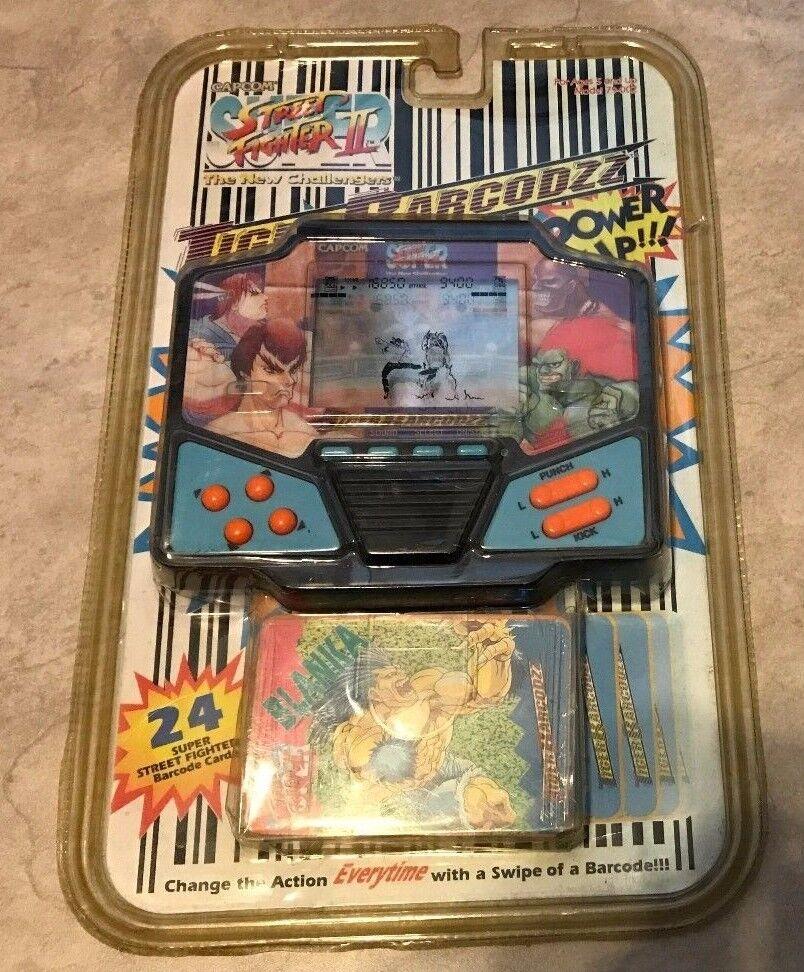 Vintage Tiger Street Fighter II nuevo retadores LCD electrónico Juego Negro Sellado
