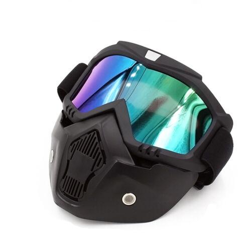 US Harley Helmet Motorcycle Bike Vintage Leather 3//4 Face Mask Crocodile Brown