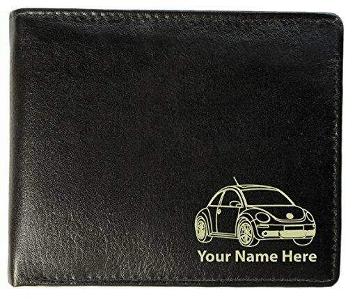 Personalised Mens Real Leather Wallet - Beetle Design