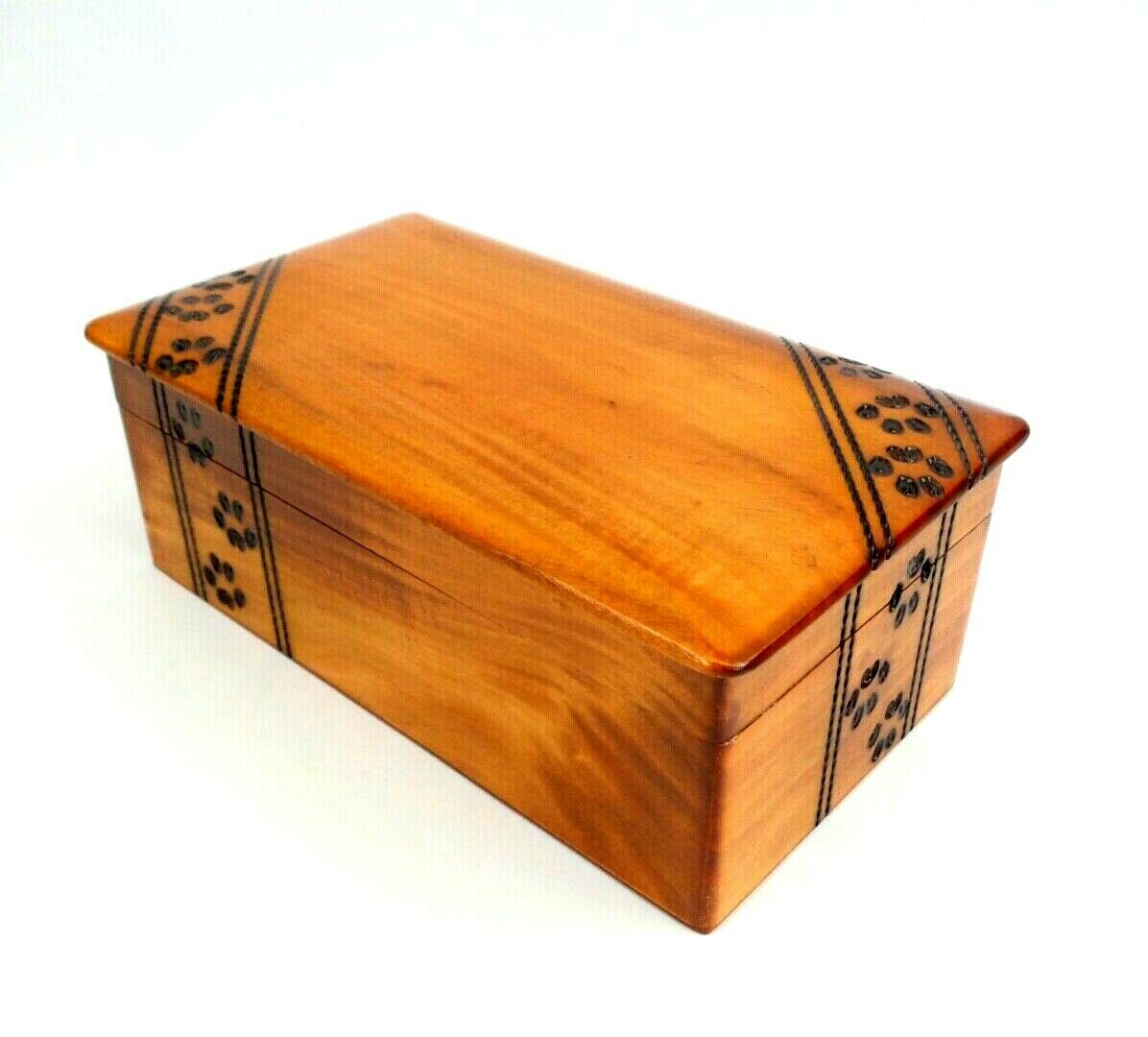 Pet Cremation Urn Large Paw Print Wood Box Cat Dog Wood Chest Ashes Memorial