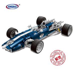 Bausteine-Blaue-Rennwagen-Modell-Auto-Car-Sportwagen-XINGBAO-Spielzeug-1758PCS