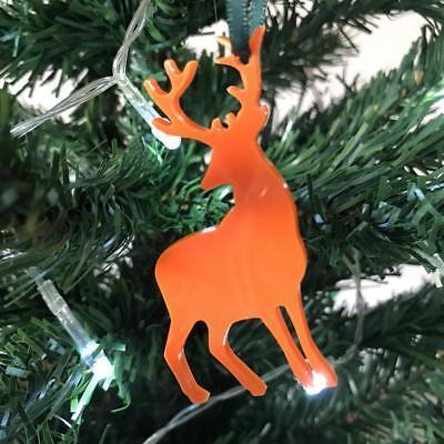 Renna Natale Decs & Nastro Verde, Confezione Da 10, Lime, Arancione, Rosso O Bianco-