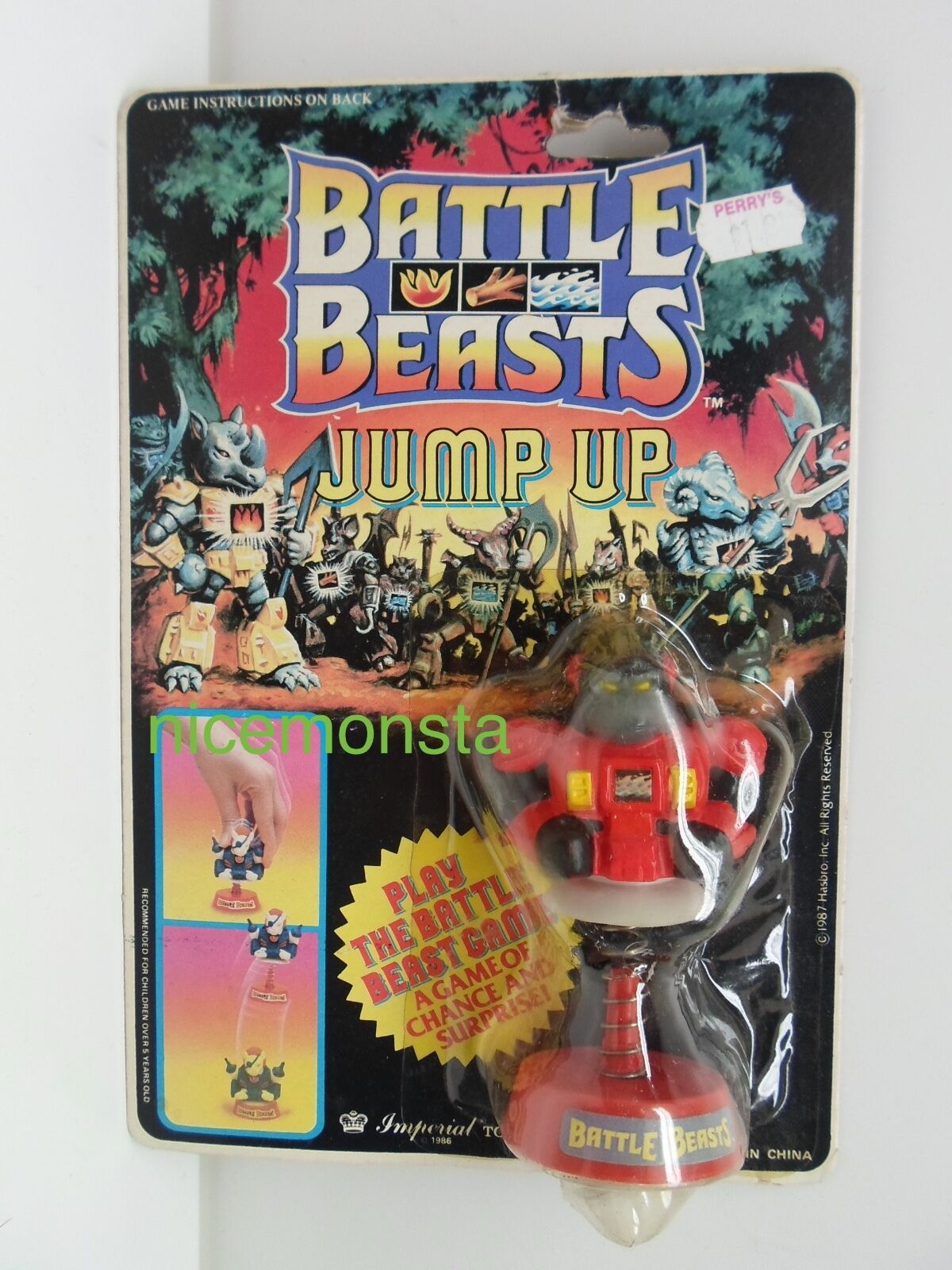 Battle Beasts Jump Ups GARGANTUAN GORILLA Figure Imperial Toy Corp. 1986 SEALED