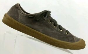 9dd6181142 Image is loading Ladies-Palladium-Brown-Canvas-Sneakers-Size-8-1-