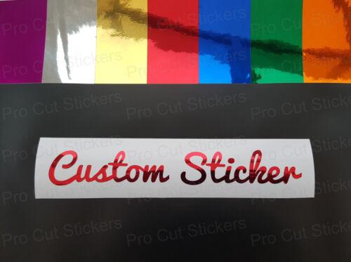 Chrome Colours Custom texte font Wording personnel Stickers Décalques Fonts 71-80