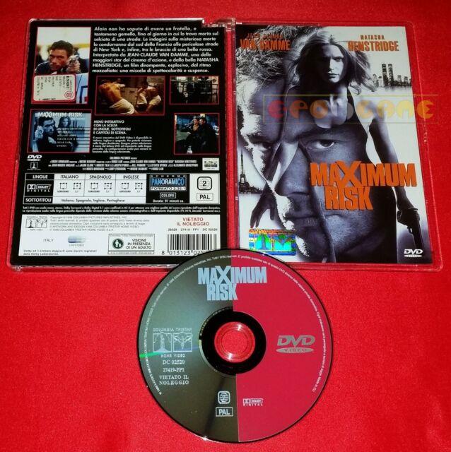 MAXIMUM RISK (Jean-Claude Van Damme) Dvd Super Jewel Box SIAE Rosa USATO ET