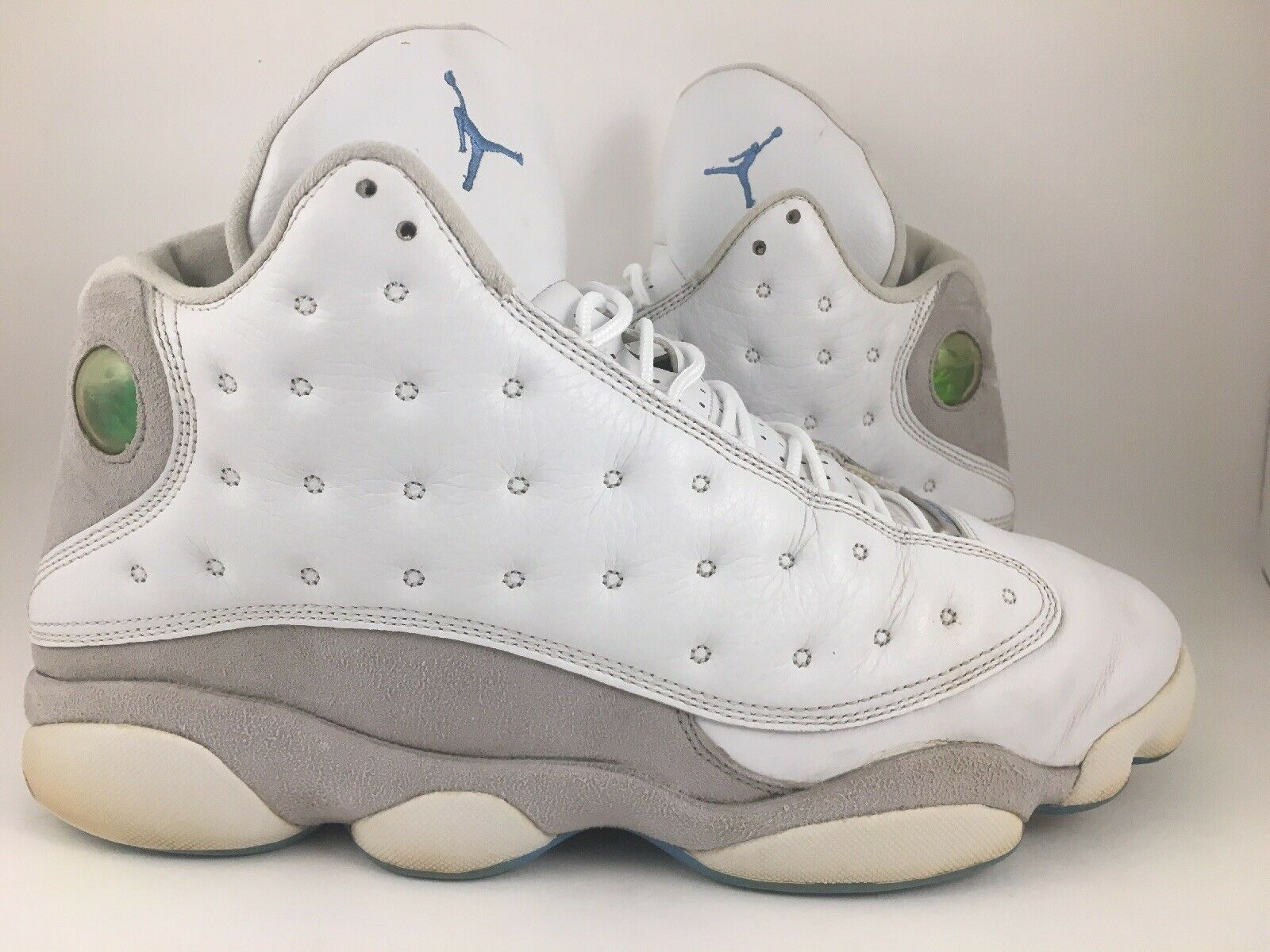f3f88fb7b1b Nike Air Jordan 13 XIII Retro White Neutral Grey University Blue ...