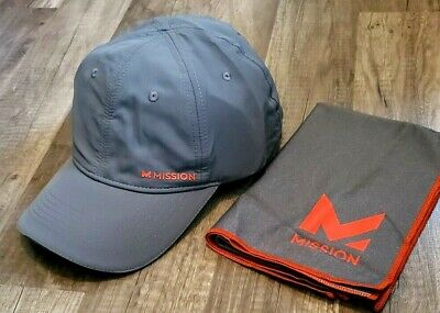 BLACK TOWEL NEW MISSION HYDRO ACTIVE TURQUOISE CAP//HAT