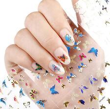 Hoja de 24 Mariposas Pegatinas Calcomanias Para Uñas de Mujer ~ Nail Stickers
