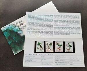 SJ-Malaysia-Medicinal-Plants-1998-Flower-Flora-Leaf-p-pack-MNH-see-scan