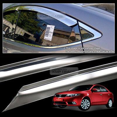 Chrome Window Vent Shades Visors Rain Guards K699 for Kia Forte 2009-2012 4Door