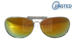 Polarizado-Espejado-Polarizado-Flip-Clip-en-Reflectante-Gafas-De-Sol-Piloto-ACP014