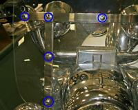 Chrome Bolt Covers For All Harley Roadking Detachable Windshield