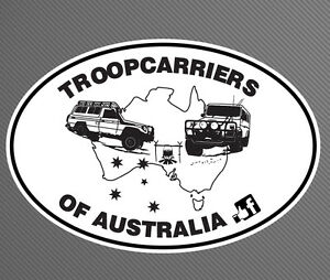 Troopcarriers-of-Australia-Custom-Large-Oval-Decal-Sticker