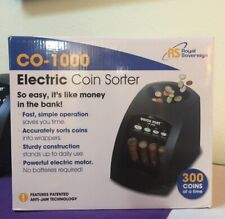 Electric Coin Sorter Machine 1 Row Anti Jam Fast Sorting Money Change Automatic