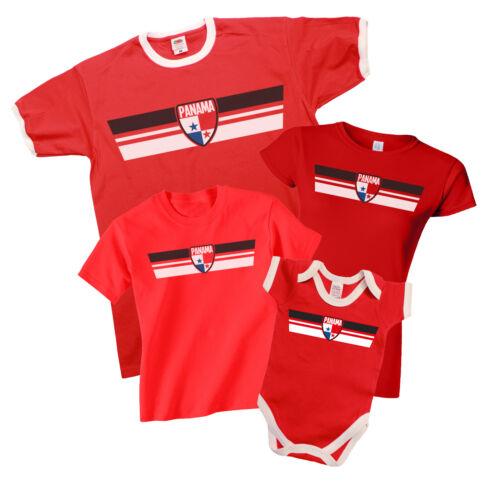PANAMA Patriotic Fan Kit Retro Strip T-Shirt Football MENS LADIES KIDS BABY