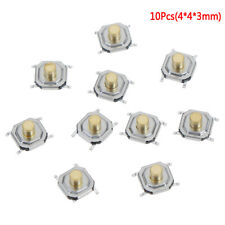 10 Micro Waterproof Copper Tactile Tact Touch Push Button Switch Smd 4x4xcm