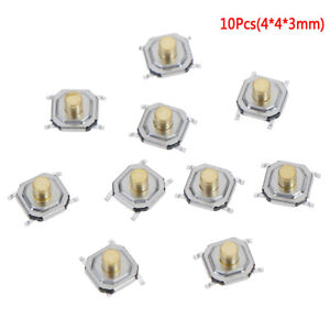 10Pcs-Micro-waterproof-copper-tactile-tact-touch-push-button-switch-SMD-4x4x3mm