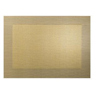 ASA-Selection-PVC-Tischset-mit-Gewebtem-Rand-Platzdeckchen-Platzset-PVC-Goldton