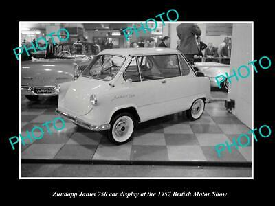 Imported From Abroad Old 6 X 4 Historic Photo Of The Zundapp Janus 750 Car 1957 British Motor Show