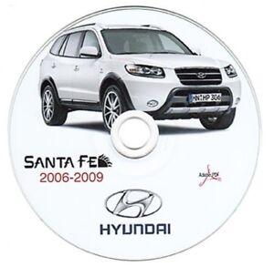 hyundai santa fe 2006 2009 workshop manual workshop manual ebay rh ebay co uk Hyundai Santa Fe Cargo Space hyundai santa fe 2.0 crdi service manual