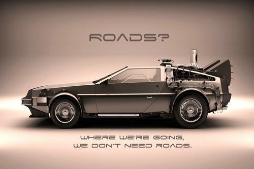 Back To The Future Classic Movie Silk Poster Bedroom Decor Picture Car