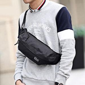 Men Nylon Chest Fanny Pack Waist Bag Hip Bum Belt Shoulder Sports Pouch Purse Ebay