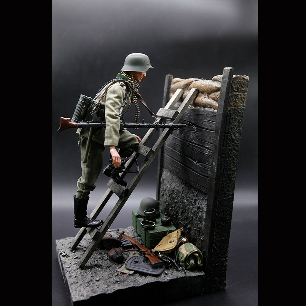 1/6 Scale World War II Solider Trenches Platform Base Ladder For 12