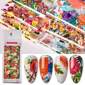 10Pcs-Flowers-Series-Nail-Art-Foils-Stickers-Transfer-Papers-Decoration-Tips-DIY