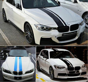 Vinyl Hood Roof Trunk Racing Stripe Car Sticker Decal For BMW VW - Bmw racing stripes decals