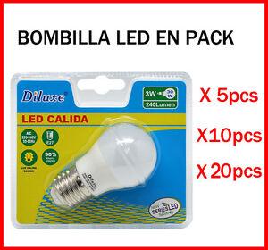 BOMBILLA-LED-3W-CASQUILLO-GRANDE-E27-LUZ-CALIDA-3000K-PACK-DE-AHOORO-DESDE-5-UDS