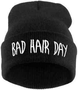 Cool Winter Hat Cap Bad Hair Day Knitted Hats Ladies Skullies and ... 8a83c0c9c05