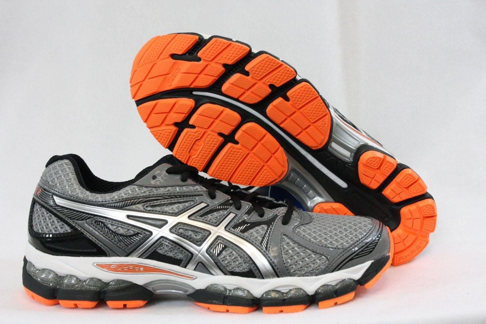 Nuova Uomo asic gel evate 2 t4a2q scarpe, 7591 silver nero arancione scarpe, t4a2q scarpe 395bb8