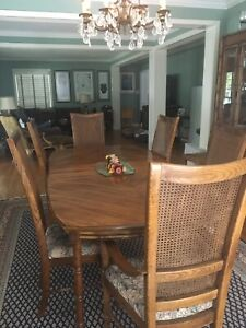 Formal Dining Table China Cabinet And Low Buffet By Stanley Furniture Ebay