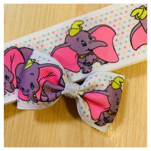 handmade hair bow clips Dumbo Pinch Bow Disney Hair Accessories For Girls Babies