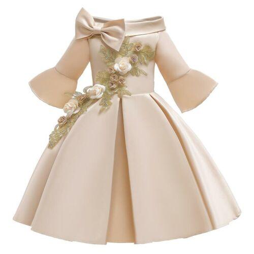 Bridesmaid Flower Tutu Girl Formal Wedding Dresses Dress Kid Baby Princess Party
