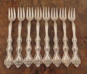 International-Silver-Interlude-8-Cocktail-Gabeln-Vintage-Silverplate-Bestecke-G