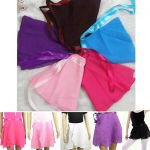 Color Girl Ballet Children Wrap Chiffon Dress Skirt Dance Tutu
