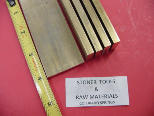 """5 Pieces 1//4/"""" x 1-1//2/"""" C360 BRASS FLAT BAR 4/"""" long Solid .250/"""" Mill Stock H02"""
