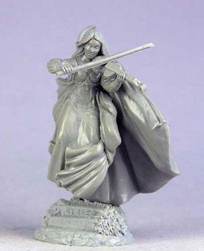 Masterworks Elmore Dark Sword DSM-1194 Female Bard with Violin Musician Hero