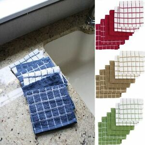 NEW-Ritz-Terry-Cotton-6-Pack-Kitchen-Dish-Cloths-12-034-x-12-034-6-Pack