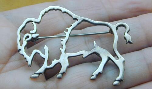 Vintage Belinda Woody Navajo Sterling Buffalo Pin