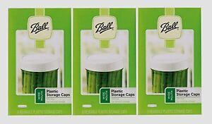 3 ~ Nouvelle Boîte De 8 Ball Large Bouche De Rangement En Plastique Couvercles Mason Canning Jar Caps 37010-afficher Le Titre D'origine 100% D'Origine