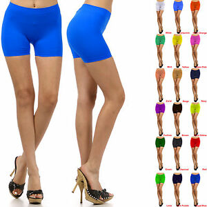 Womens-Stretch-Casual-Shorts-Biker-Exercise-Yoga-Workout-Size-XS-S-M-L-Seamless