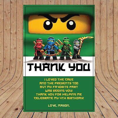Personalised DIGITAL NINJAGO GREEN LLOYD Kids Birthday Invitations YOU PRINT