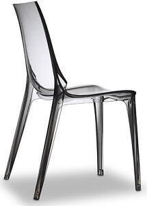 Sedie Policarbonato Design.Dettagli Su Sedia Vanity Chair Scab Design Set 2 Sedie Trasparente Fume Sedia Policarbonato